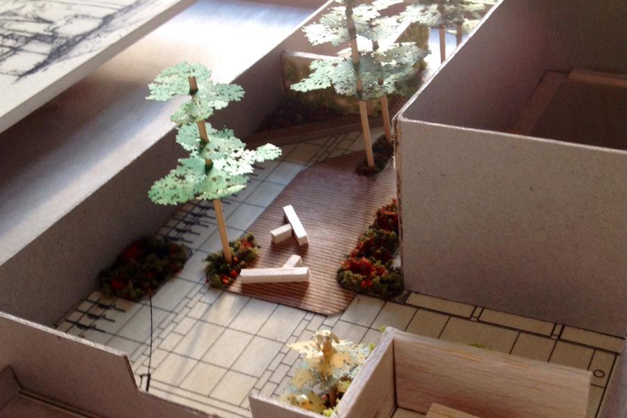 OLLV Courtyard -Study Model